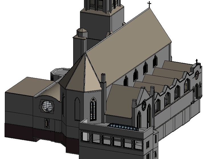 St Vincents, 3D Revit Model
