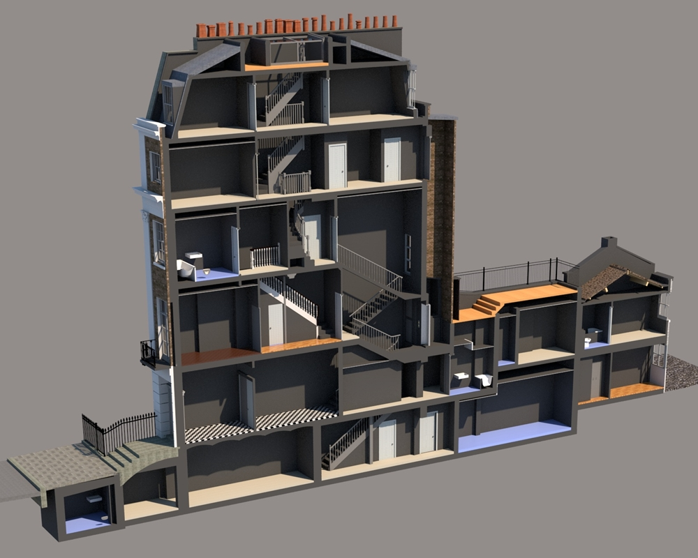 3D Revit Model for Belgravia Refurbishment