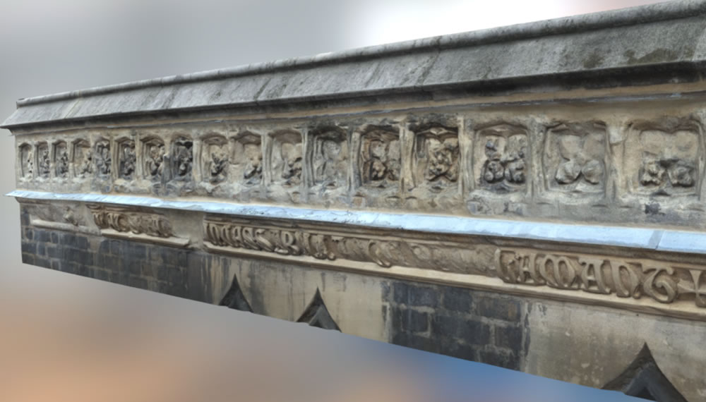 New interactive 3D model of Pugin Inscription