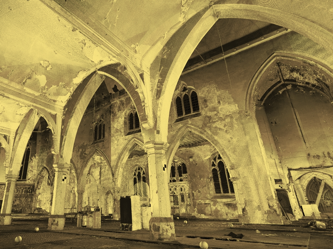 St Vincents Interior, 3D laser scanning