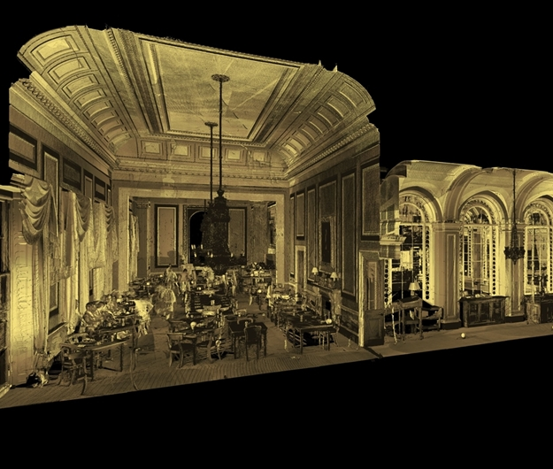 travellers club, measured building survey, 3d scanning